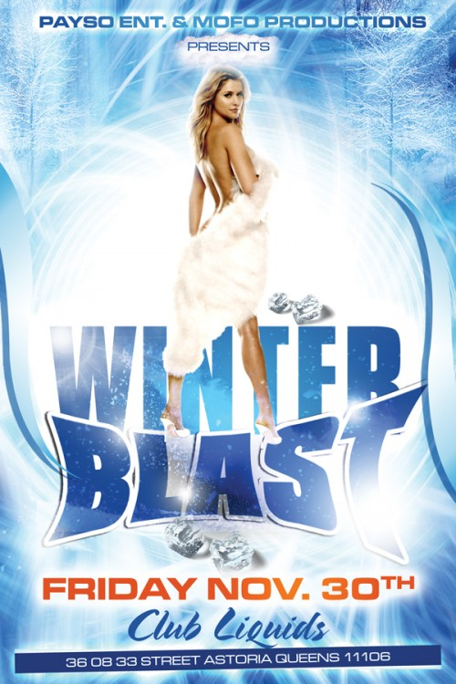 33_Winter Blast Party Flyer