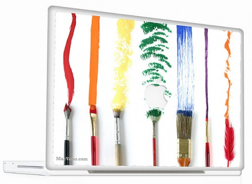 3_Macbook Skin Paint Brush