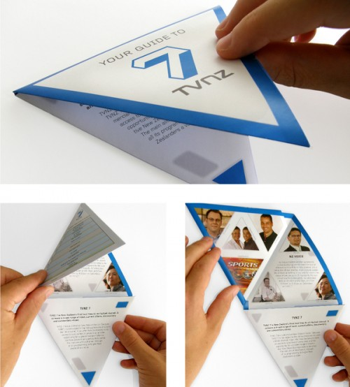3_TVNZ 7 - Triangular Folding Brochure