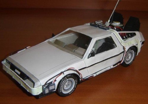 4_BTTF Delorean Paper Model