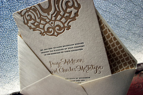 4_Letterpress Wedding Invitations by Smock