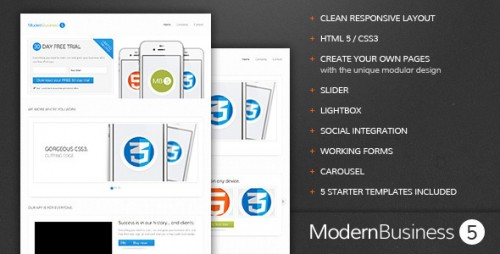 4_Modern Business 5 - Responsive Landing Page