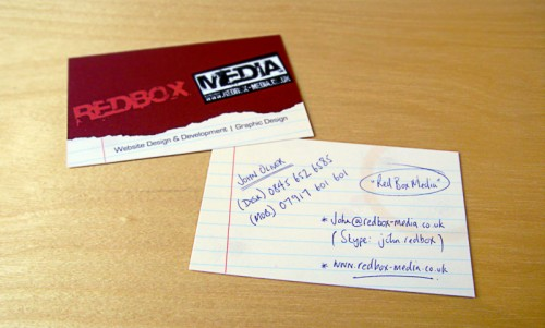 4_Redbox Media Business Cards