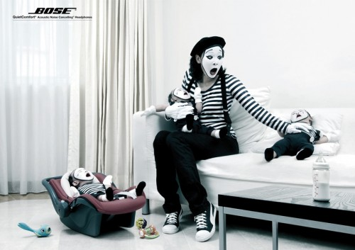 5_Bose Headphones Mimes, Crying Babies