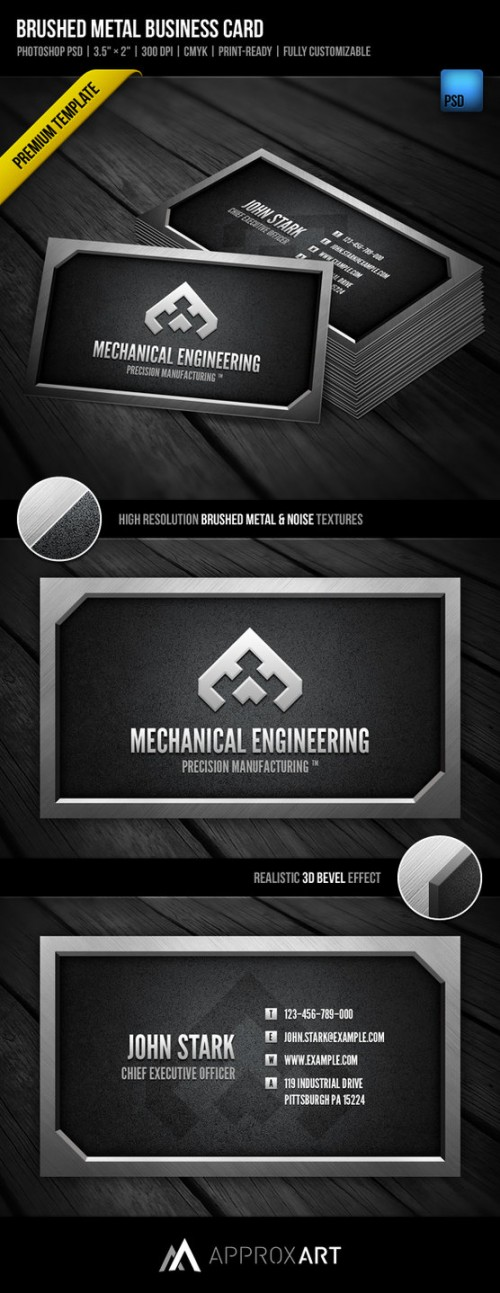 5_Brushed Metal Business Card