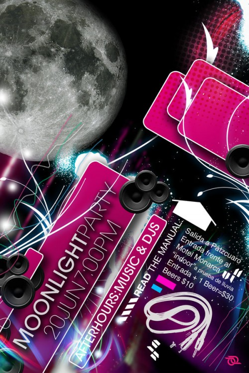 5_Moonlight Party Flyer