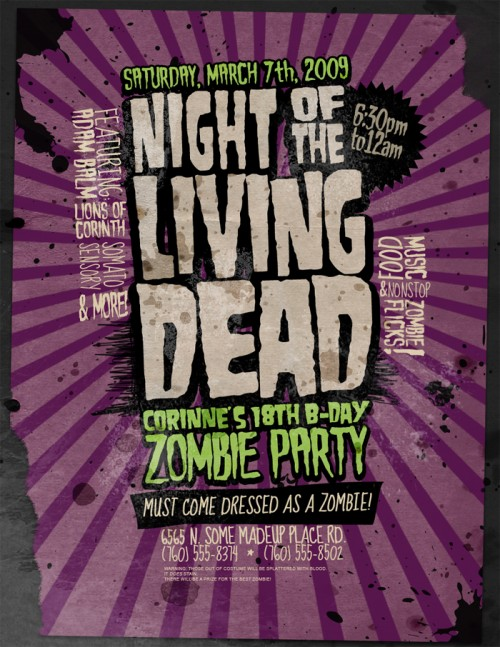 6_Flyer Zombie Party