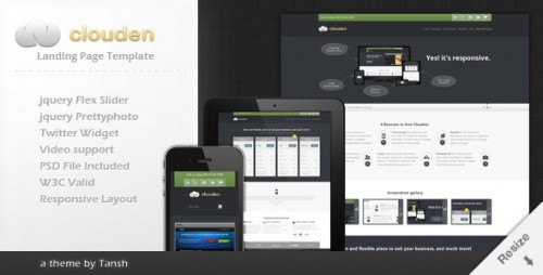 7_Clouden Responsive Landing One Page Template