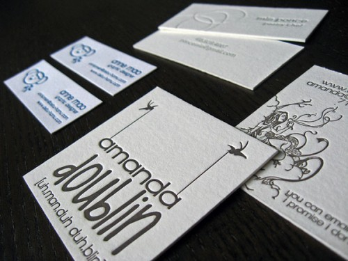 9_Square Letterpress Business Cards