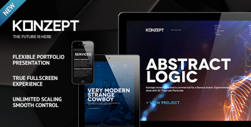 10_Konzept - Fullscreen Portfolio WordPress Theme