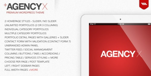 12_AGENCY X - Premium WordPress Theme