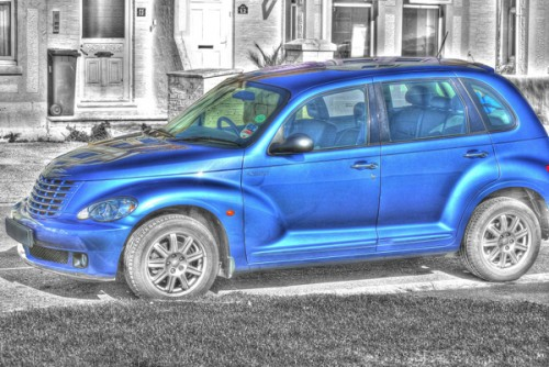 18_Blue Car HDR