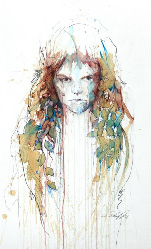 1_Drawings by Carne Griffiths