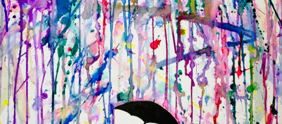 1_Dripping Wet Colorful Ink Drawings by Marc Allante