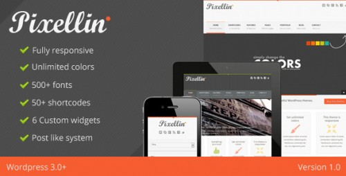 1_Pixellin - Responsive WordPress Theme