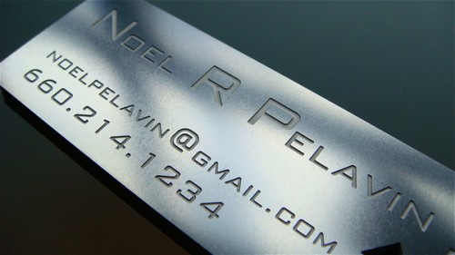 1_Stainless Steel Metal Business Card