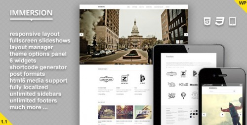 27_Immersion - Responsive Fullscreen WP Theme