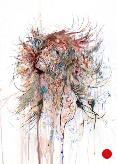 2_Drawings by Carne Griffiths
