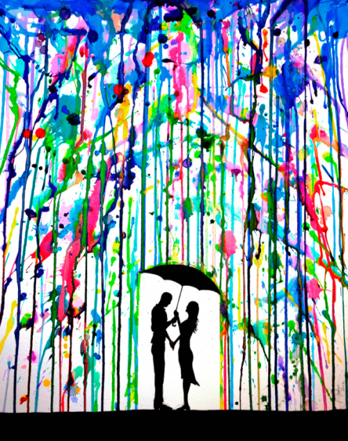 2_Dripping Wet Colorful Ink Drawings by Marc Allante