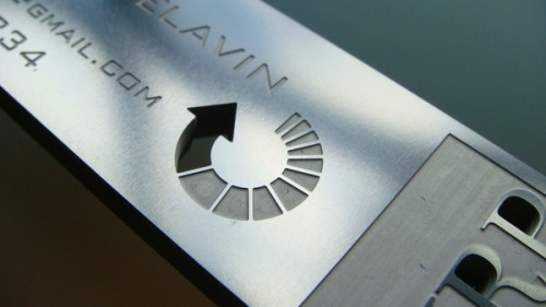 2_Stainless Steel Metal Business Card