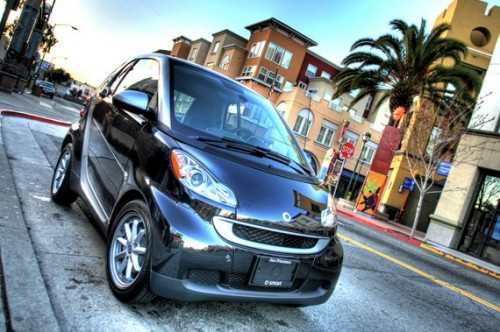 30_Black Smart Car In Hi-Def HDR