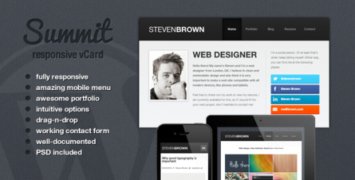 30_Summit - Responsive WordPress vCard Theme