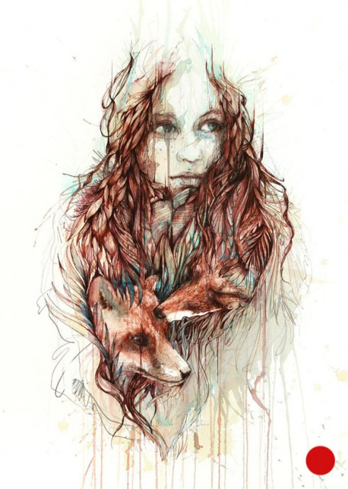 3_Drawings by Carne Griffiths