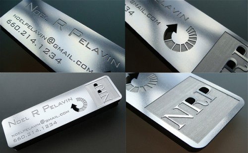 4_Stainless Steel Metal Business Card
