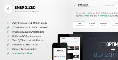 5_Energized - Responsive WordPress Theme