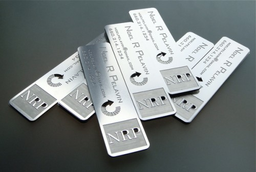 5_Stainless Steel Metal Business Card