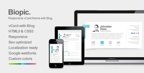 6_Biopic - Responsive vCard WordPress Theme
