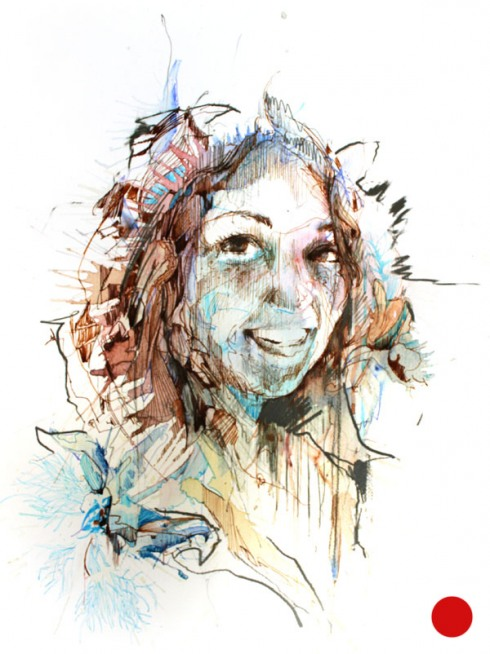 7_Drawings by Carne Griffiths