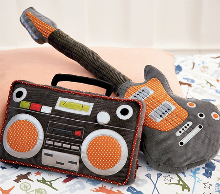 9_Boombox and Guitar Pillows