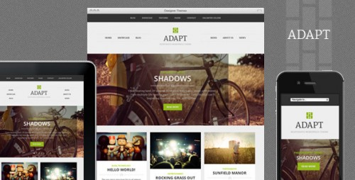 12_Adapt, a Responsive WordPress Theme