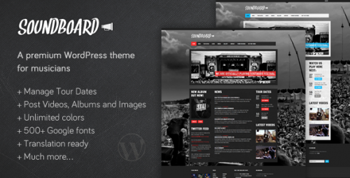 18_Soundboard - a Premium Music WordPress Theme
