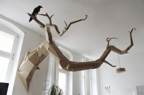 1_Cardboard Sculptures by Bartek Elsner