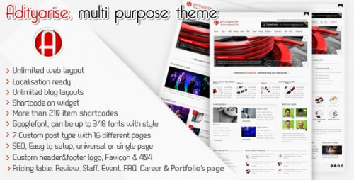 21_Adityarise - Multi Purpose Wordpress Theme