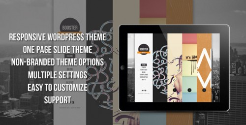 23_BOOSTERIUS - Responsive one page slide WordPress theme