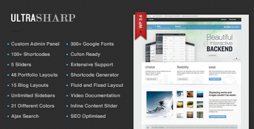 30_UltraSharp – All Purpose, Flexible Wordpress Theme