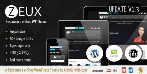 33_Zeux - A Responsive e-Shop WordPress Theme