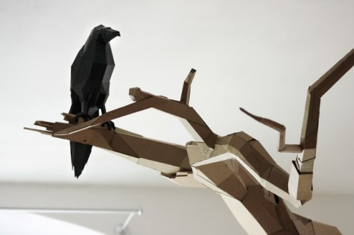 3_Cardboard Sculptures by Bartek Elsner