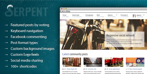 3_Serpent - Responsive Social Network Theme
