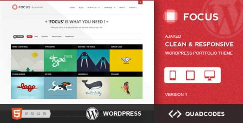 42_Focus - Clean & Responsive Ajax WordPress Theme