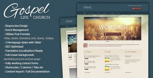 49_Gospel - Premium Responsive WordPress Theme