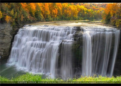39_Gorgeous Middle Letchworth Autumn Waterfall