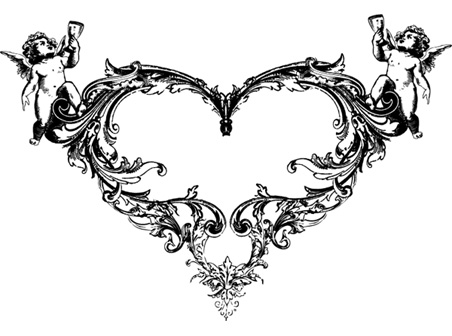 3_Ornate Heart Vector