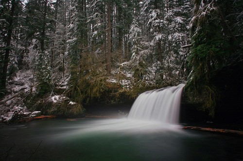 46_Upper Butte Creek Falls, Winter