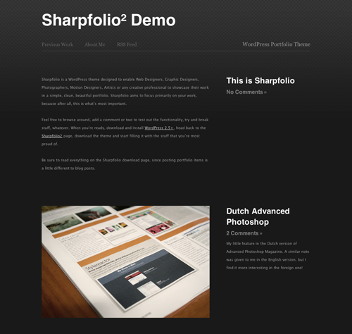 7_Sharpfolio - Wordpress Portfolio Theme