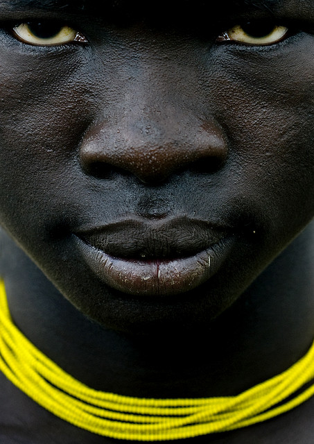 8_Mursi Man with Yellow Necklace, Omo Ethiopia