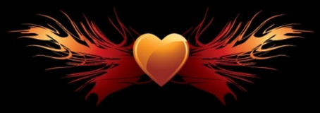9_EPS Vector Flaming Heart Wings